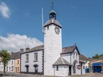 Staden Hall Laugharne Taf Estuary Wales Arkivbild