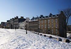 staden houses quebec royaltyfri bild