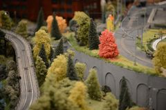 Staden i en miniatyr arkivbilder
