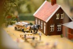 Staden i en miniatyr arkivfoton