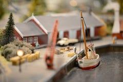 Staden i en miniatyr royaltyfri fotografi