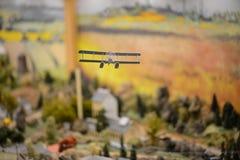 Staden i en miniatyr arkivfoto