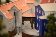 Staden i en miniatyr royaltyfria bilder