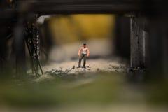 Staden i en miniatyr arkivbild