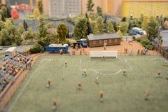 Staden i en miniatyr fotografering för bildbyråer