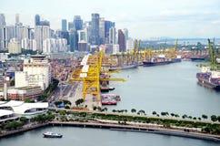 Staden i Singapore Arkivbild