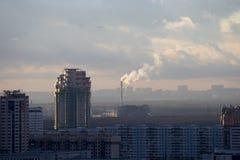 Staden landskap - southwesten av Moscow. Ryssland fotografering för bildbyråer