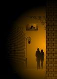 staden missa nightly par Arkivfoton
