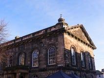 Staden och militärmuseet, en detalj av den fina arkitekturen i Lancaster England i mitten av staden royaltyfri fotografi