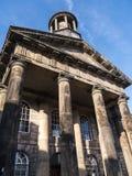 Staden och militärmuseet, en detalj av den fina arkitekturen i Lancaster England i mitten av staden fotografering för bildbyråer
