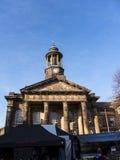 Staden och militärmuseet, en detalj av den fina arkitekturen i Lancaster England i mitten av staden royaltyfri foto