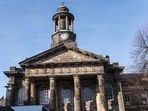 Staden och militärmuseet, en detalj av den fina arkitekturen i Lancaster England i mitten av staden royaltyfria foton