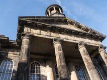 Staden och militärmuseet, en detalj av den fina arkitekturen i Lancaster England i mitten av staden arkivbilder