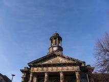 Staden och militärmuseet, i Lancaster England i mitten av staden arkivbild