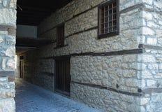 Staden Ohrid - gamla hus Royaltyfria Foton