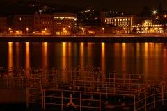 Staden på natten i Budapest Royaltyfria Foton