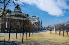 Staden parkerar Bruhlschen Garten, Dresden, Tyskland arkivfoto