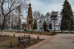 Staden parkerar i Bronnitsy Arkivbild