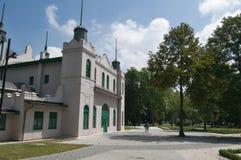 Staden parkerar i KoÅ ¡ is - Slowakei arkivbilder