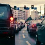 staden sitter fast trafik Royaltyfri Fotografi