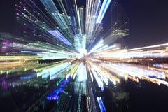 Staden tänder natt arkivfoto