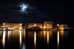 staden tänder nattplats Fotografering för Bildbyråer