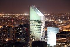 staden tänder New York Royaltyfri Bild