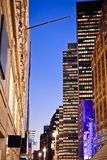staden tänder New York Royaltyfria Bilder