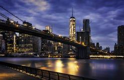 staden tänder New York Arkivbilder