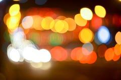 Staden tänder suddigt inbokat bakgrundsabstrakt begrepp Fotografering för Bildbyråer