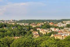 Staden taklägger bland trees Royaltyfri Fotografi