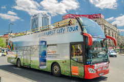 Staden turnerar bussen Royaltyfria Bilder