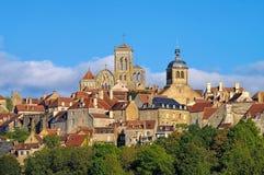 Staden Vezelay, Bourgogne Royaltyfria Foton