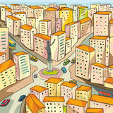 Stadfyrkant Vektor Illustrationer
