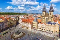 Stadfyrkant i Prague Prague, Tjeckien royaltyfria foton