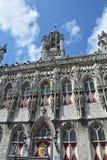 Stadhuis Мидделбург - старая башня здание муниципалитета в Нидерландах Стоковое Фото
