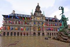 Stadhuis, Antwerp urząd miasta - Fotografia Royalty Free
