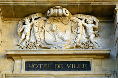 Stadhuis, Arles, Frankrijk stock afbeelding
