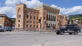 Stadhuis, bibliotheek Sarajevo 1 stock footage