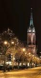 Stadhuis bij nacht Royalty-vrije Stock Foto's