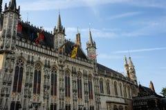 Stadhuis Bruges Arkivfoto