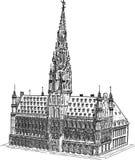 Stadhuis Brussel vector illustratie