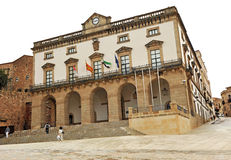 Stadhuis, Caceres, Extremadura, Spanje Stock Afbeeldingen