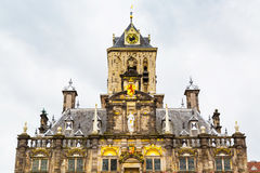Stadhuis or City Hall details view in Delft, Holland Stock Image
