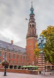 Stadhuis City Hall, Leiden, Netherlands. Stadhuis City Hall is 16th century building in Leiden, Netherlands royalty free stock image