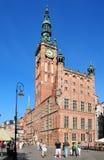 Stadhuis in Danzig (Gdank) Stock Afbeeldingen