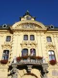 Stadhuis dat Szeged Hongarije bouwt royalty-vrije stock afbeelding