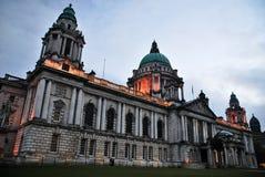 Stadhuis in de stad van Belfast, Norteh Ierland stock afbeelding