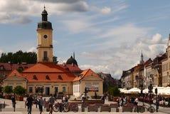 Stadhuis en het belangrijkste vierkant in BiaÅ 'ystok stock foto