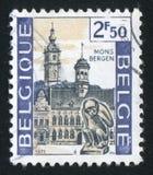 Stadhuis en Klokketoren, Mons stock afbeeldingen